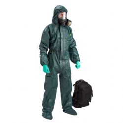 CBRN Suit Kit Low Key Green Coverall Black Gasmask - Urban Survivor